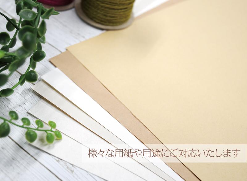 様々な質感色の用紙 お持ち込み用紙 クラフト紙 光沢