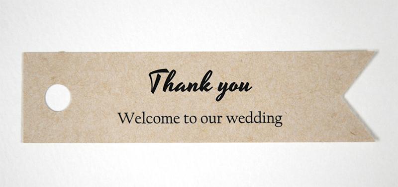 Thank youカード 型抜き カッティング heart 結婚式 ブライダル クラフト紙 ナチュラル